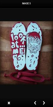 Art Drawing on Sandals apk screenshot