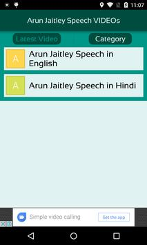 Arun Jaitley Speech VIDEOs screenshot 2