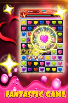 Candy Frenzy Valentine Hearts 2018 apk screenshot
