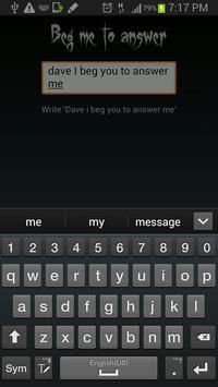 Fool your friends: Ask Dave apk screenshot