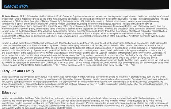 Biographies of Astronomers apk screenshot