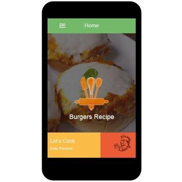 Burgers Recipes apk screenshot
