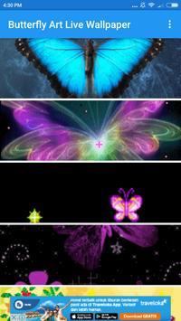 Butterfly Art Live Wallpaper screenshot 1