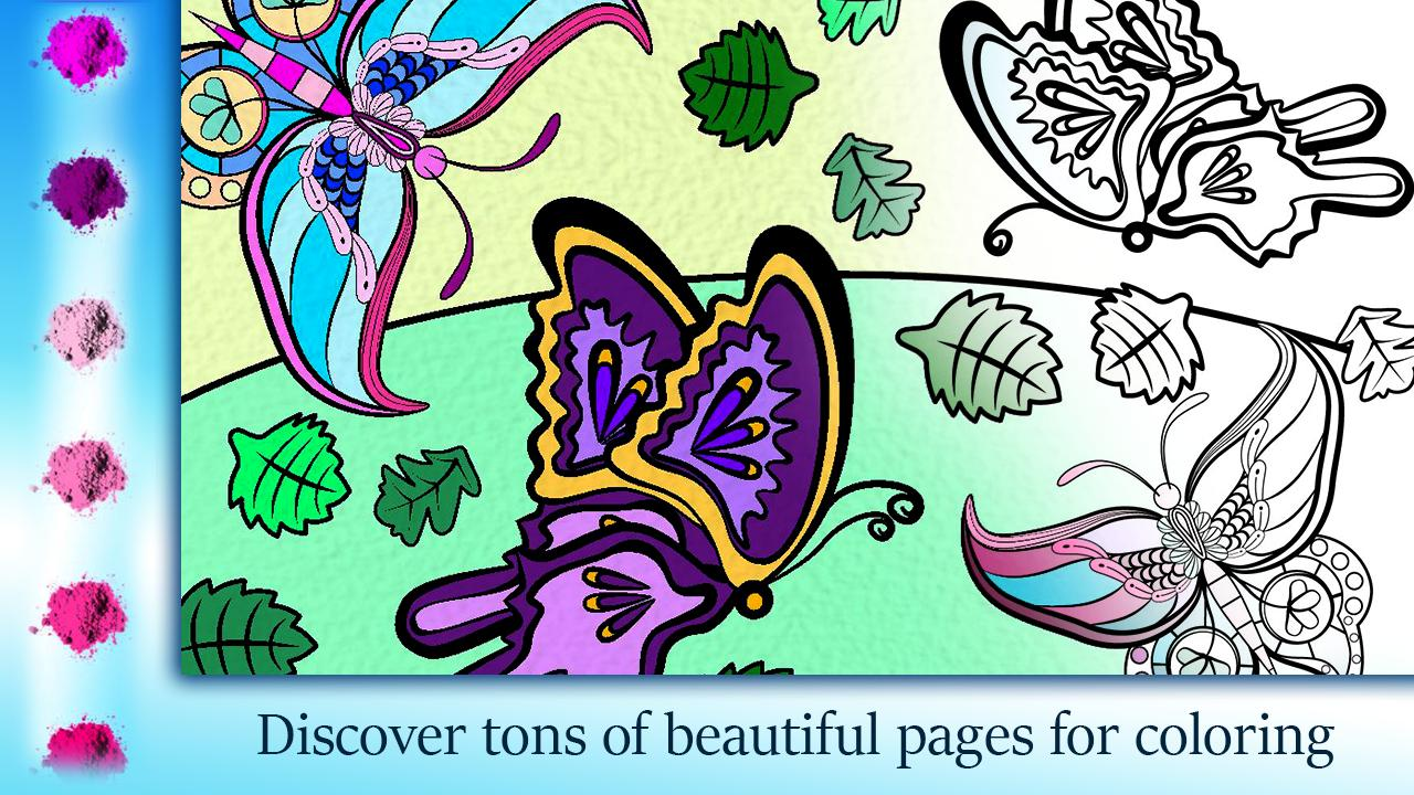 Butterfly coloring books garden color pages for android apk download