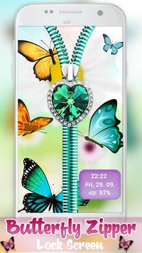 Butterfly Zipper Lock Screen screenshot 3