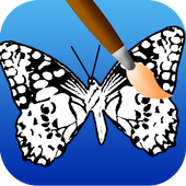 butterfly coloring pages game icon