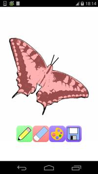 butterfly coloring pages game poster
