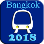 Bangkok BTS MRT Subway Map 2018 icon