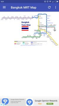 Bangkok BTS MRT Subway Map 2018 poster