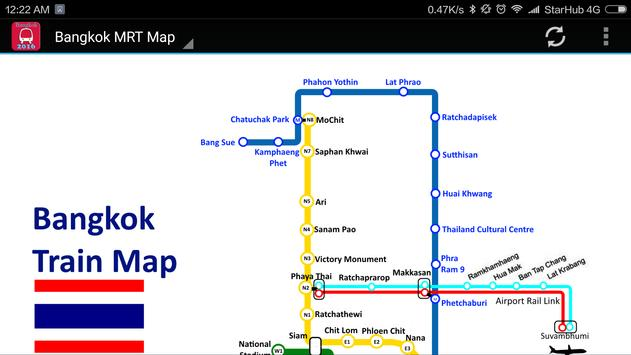 Bangkok BTS MRT Subway Map 2018 apk screenshot