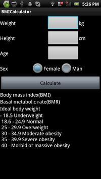 BMI_BMR Calculator poster