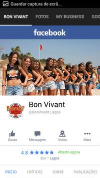 BON VIVANT poster