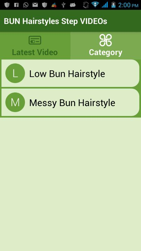 Bun Hairstyles Step Videos For Android Apk Download