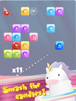 UNICORN SMASH - Candy brick breaker ballz screenshot 8
