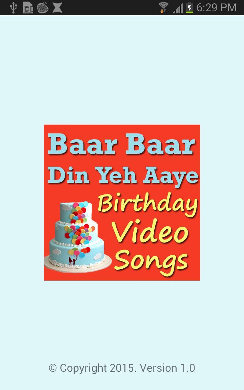 baar baar yeh din aaye songs download