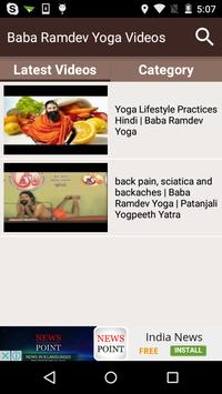 Baba Ramdev Yoga Videos Poster Apk Screenshot