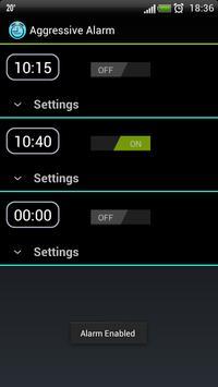 Aggressive Alarm screenshot 2