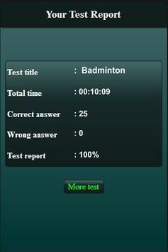 Badminton Quiz screenshot 3