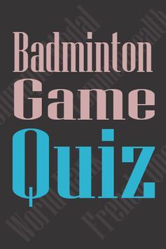 Badminton Quiz poster