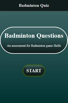 Badminton Quiz screenshot 1