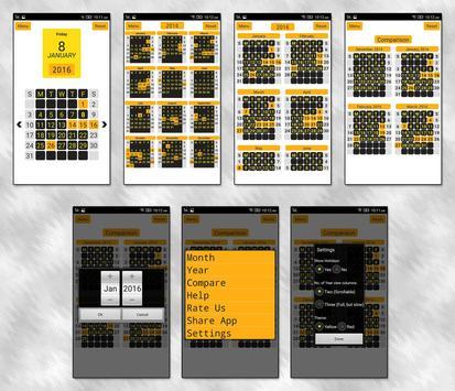 Year View - 12 Month Calendar apk screenshot