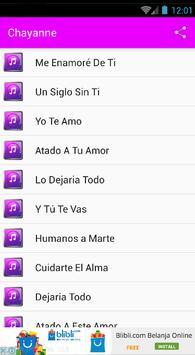 Chayanne Musica y Letras apk screenshot