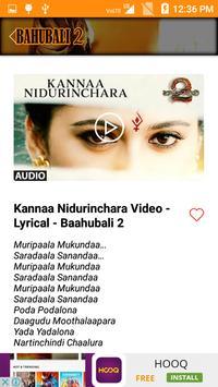 Video songs of Bahubali 2 apk screenshot