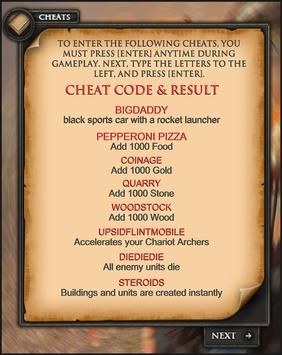 cheats for age of empires 1