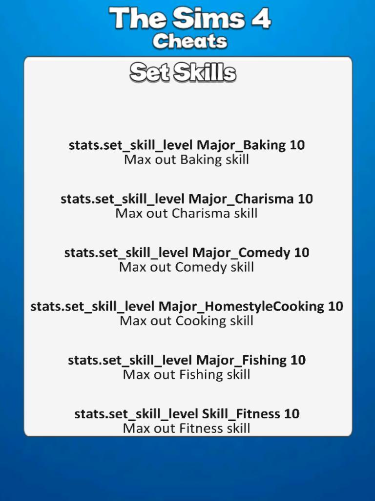 All Sims 4 Cheat Codes for Android - APK Download