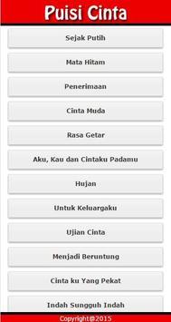 Puisi Cinta Terbaru apk screenshot