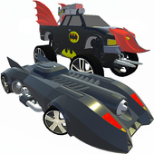 Bat Hero Driving A Car icon