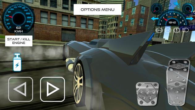 Bat Hero Driving A Car screenshot 12