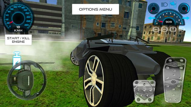 Bat Hero Driving A Car screenshot 13