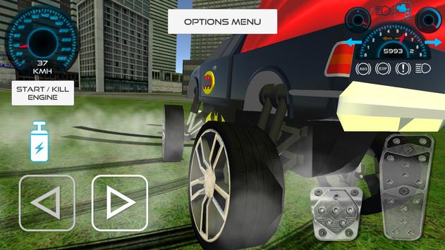Bat Hero Driving A Car screenshot 14