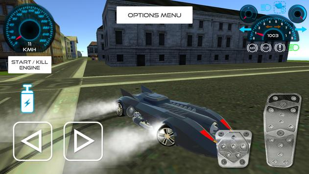 Bat Hero Driving A Car screenshot 1