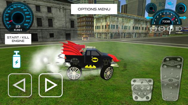 Bat Hero Driving A Car screenshot 2