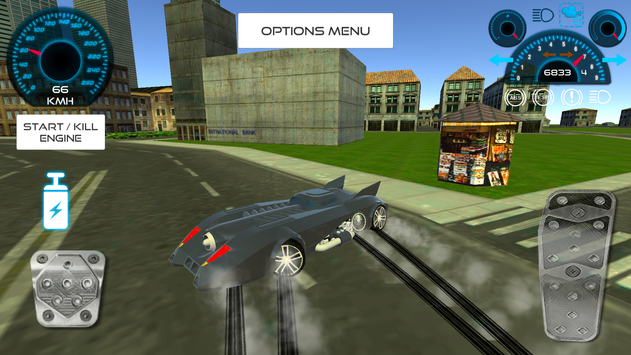 Bat Hero Driving A Car screenshot 5