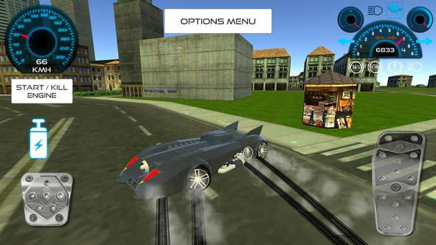 Bat Hero Driving A Car screenshot 5