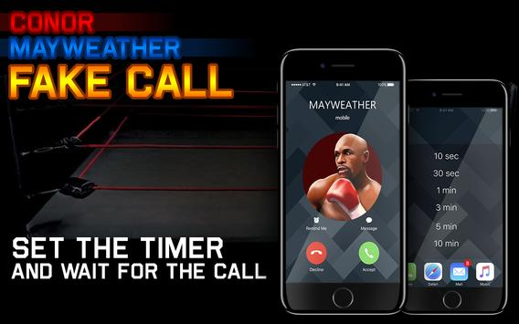 Conor Mayweather Fake Call screenshot 1