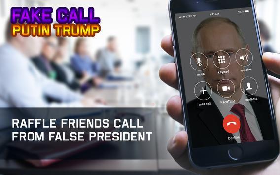 Fake Call Putin Trump apk screenshot