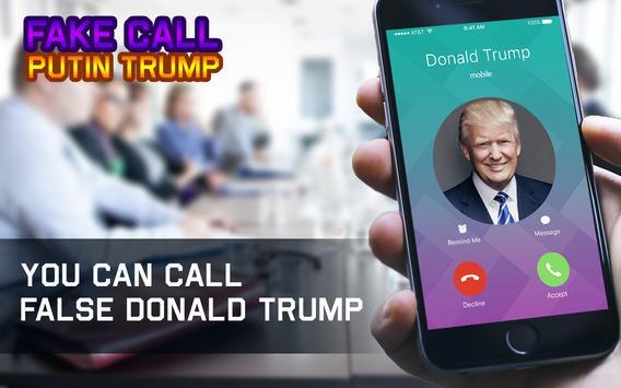 Fake Call Putin Trump poster