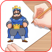 How to draw clash roy icon