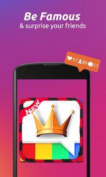 👑Insta-King ! Get Free Likes & Followers Prank screenshot 2