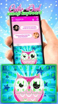Cute Owl Emoji Keyboard App poster