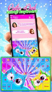 Cute Owl Emoji Keyboard App screenshot 3