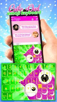 Cute Owl Emoji Keyboard App screenshot 4