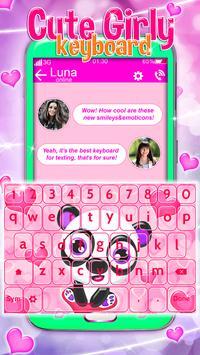 Cute Girly Keyboard screenshot 5