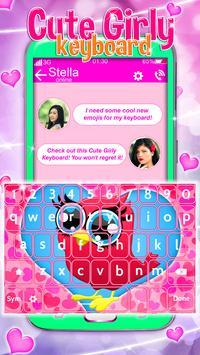 Cute Girly Keyboard screenshot 1