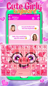 Cute Girly Keyboard screenshot 3