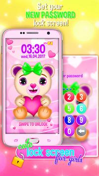 Cute Lock Screen for Girls apk screenshot